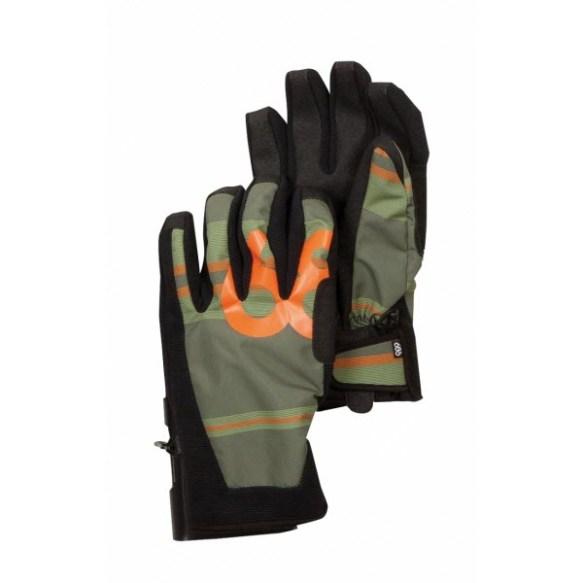 686 Factor Pipe Snowboard Ski Gloves Army League Stripe 2013