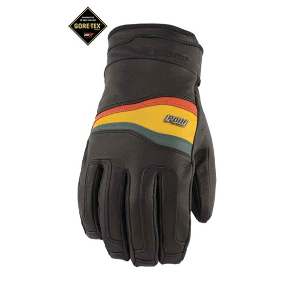 Pow Gloves Stealth GTX Snowboard Gloves 2013 in Rasta