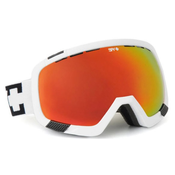 Spy Platoon White Snowboard Ski Goggles Bronze Red Spectra Mirror 2013