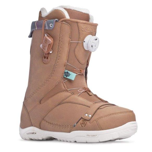 K2 Sapera BOA 2014 Sample Womens Snowboard Boots New Brown Uk 5.5