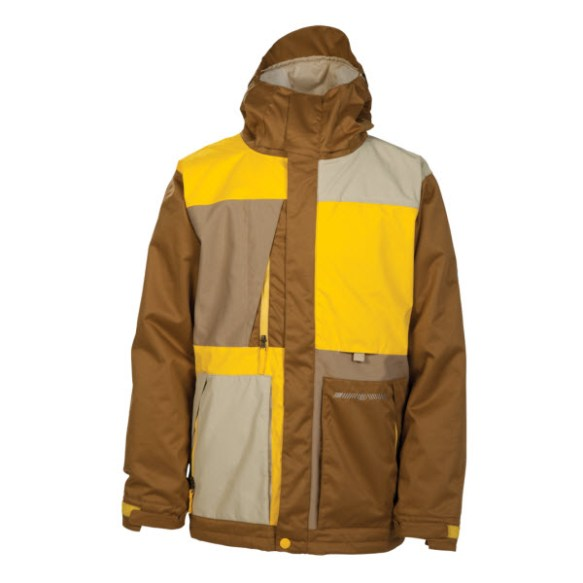 686 Reserved Sonic Mens Insulated Snowboard Jacket Yellow Large New Sample 2014