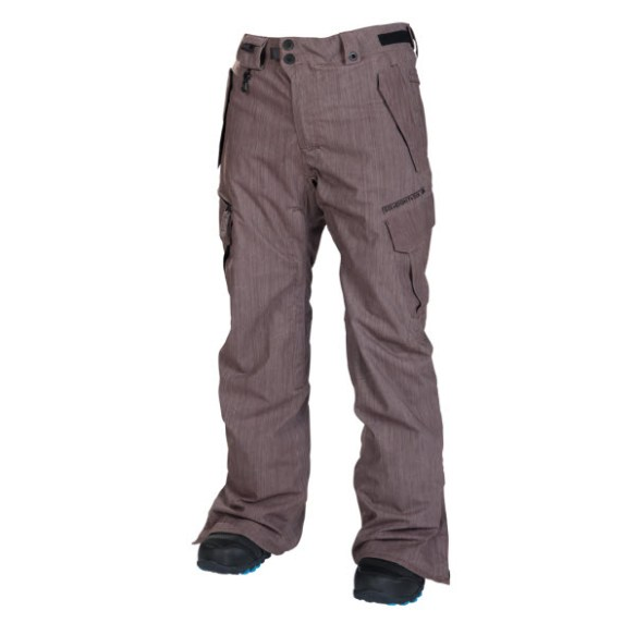 686 Mens Smarty Slim Cargo Snowboard Pants Dark Rust Denim 2014 Sample Large