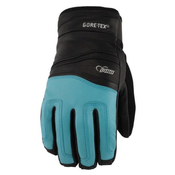 Pow Gloves Womens Stealth GTX Snowboard Ski Goatskin Glove GoreTex New 2013 Teal