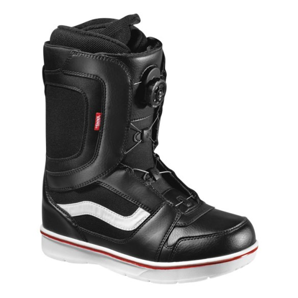 Vans Encore Boa Mens Snowboard Boots 2013 in Black White