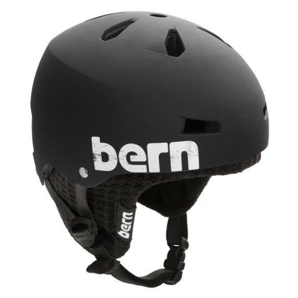 Bern Macon Hard Hat Snowboard Ski Skate Helmet 2013 Matte Black w/ Black Knit