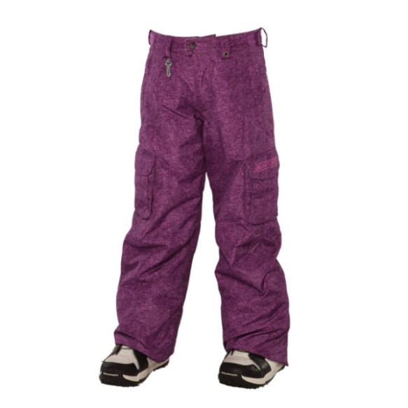 686 Smarty Mandy Girls Snowboard Pants Light Plum Medium Sample 2014 Age 10-12