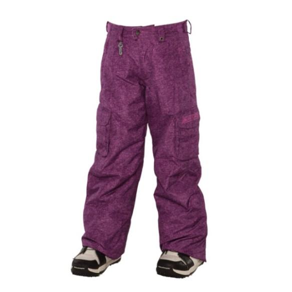 686 Smarty Mandy Girls Snowboard Pants Light Plum Medium Sample 2014 Age 10-12