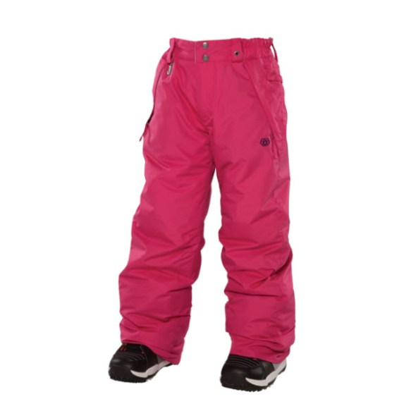 686 Mannual Brandy Girls Snowboard Pants Rasberry Medium Sample 2014 Age 8-10
