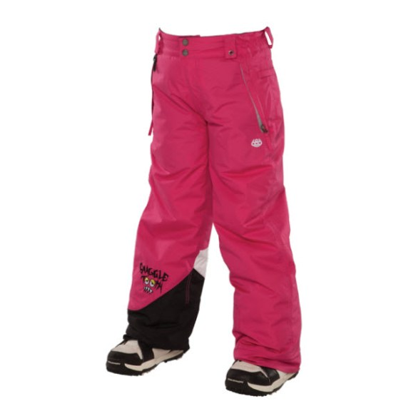 686 Snaggle sister Girls Snowboard Pants Raspberry Medium Sample 2014 Age 8-10