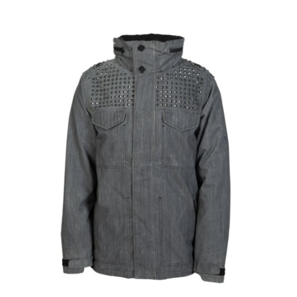 686 Limited Hellraiser Stud Mens Snowboard Jacket Gunmetal Large New Sample 2014