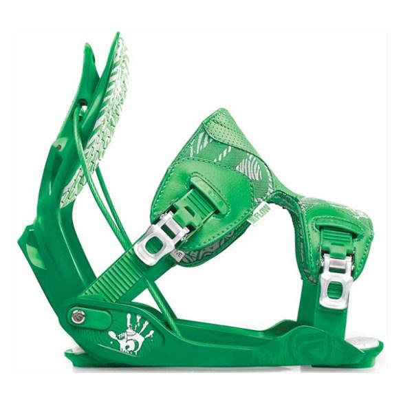 Flow The Five Snowboard Binding in Green size Medium