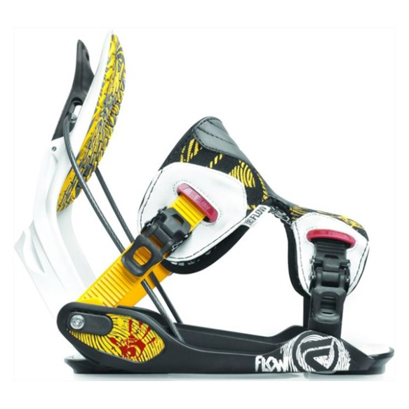 Flow The FIVE Snowboard Binding 2012 in Yellow Red Size Medium