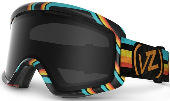 Von Zipper Beefy Snowboard Ski Goggles Black Xcyte with Blackout Lens 2014