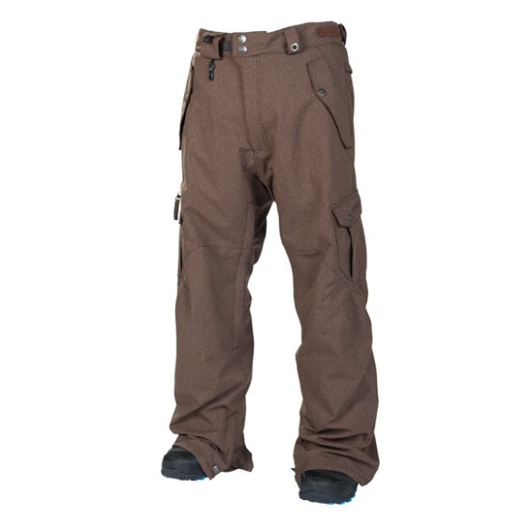 686 Mens Smarty Original Cargo Snowboard Pants Chocolate Brown Texture 2014