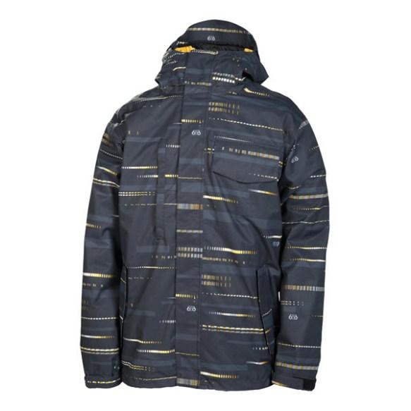 686 Smarty Echo Mens Snowboard Jacket Black Echo New 201