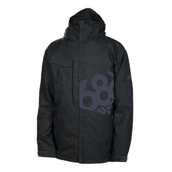 686 Mannual Iconic Mens Snowboard Jacket Black Various Sizes 2014
