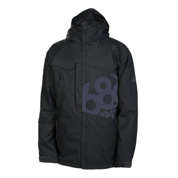 686 Mannual Iconic Mens Snowboard Jacket Black Various Sizes 2014