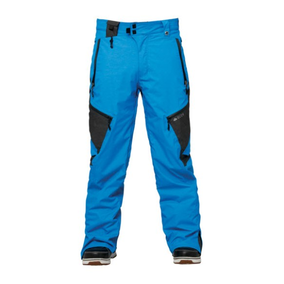 686 GLCR Synth Thermagraph Mens Snowboard Pants Blue Heather Colorblock Sample Large 2015