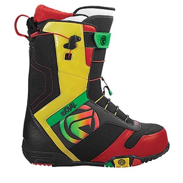 Flow Rival Snowboard Boot 2012 in Rasta