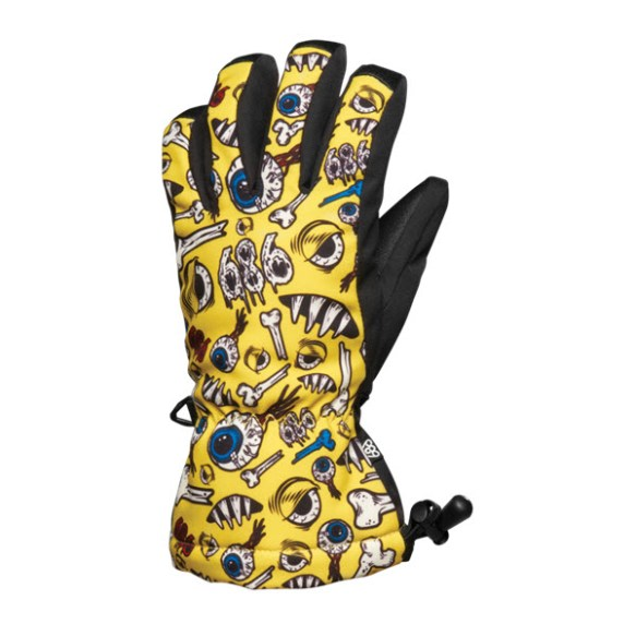 686 Snaggletooth Operation Boys Snowboard Gloves Celery Yellow L/XL Sample age 12 - 14 2015