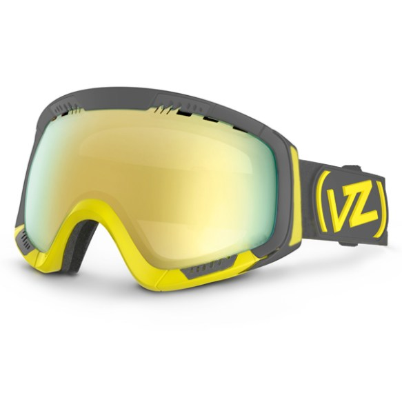 Von Zipper VZ Feenom Mens Snowboard Ski Goggles Blok Yellow Gold Chrome 2013