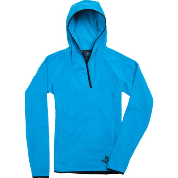 686 Womens Lola Pullover Tech Fleece Snowboard Turquoise Medium 2012