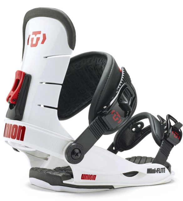 Union Mini Flite SAMPLE Youth Snowboard Bindings White Small 2015
