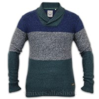 Mens Wool Shawl Collar Pullover Sweater - Sweater Grey