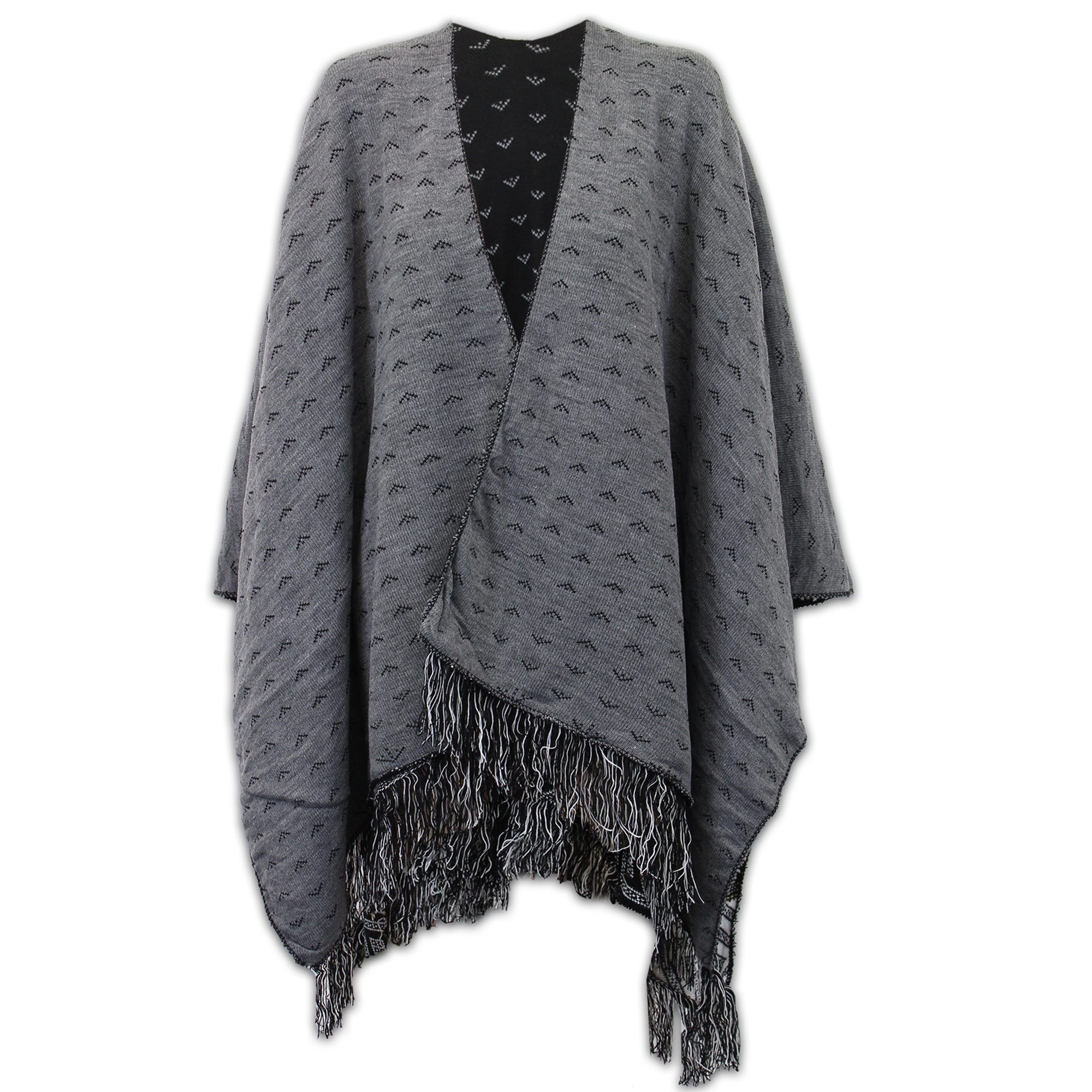 Ladies Shawl Sweater Ladies Shawl Womens Knitted Poncho Cardigan Reversible