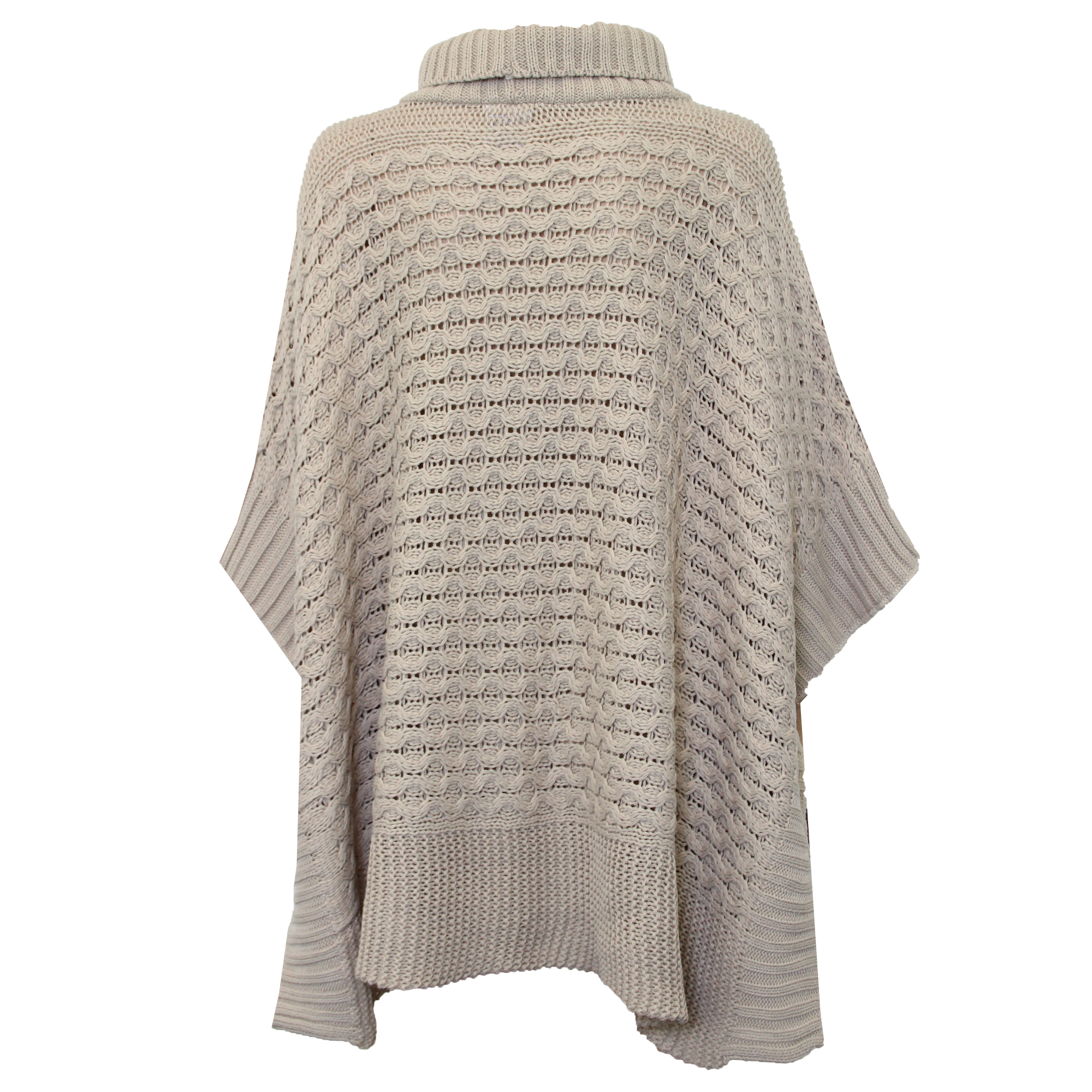 Ladies Shawl Sweater Ladies Poncho Jumper Womens Knitted Cape Sweater Top Check