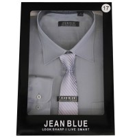 Mens Shirt Tie Set Formal Italian Style Box Office Long