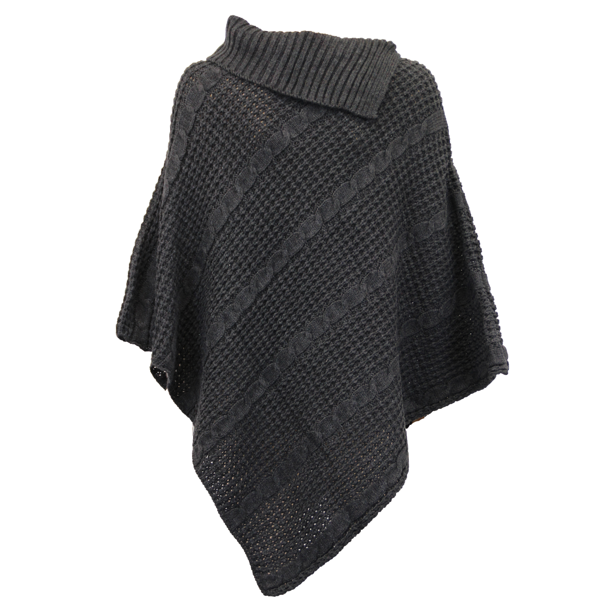 Ladies Shawl Sweater Ladies Poncho Jumper Womens Knitted Cape Sweater Top