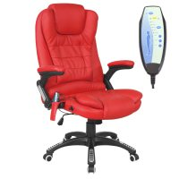 RIO LEATHER RECLINING OFFICE CHAIR w 6 POINT MASSAGE HIGH ...