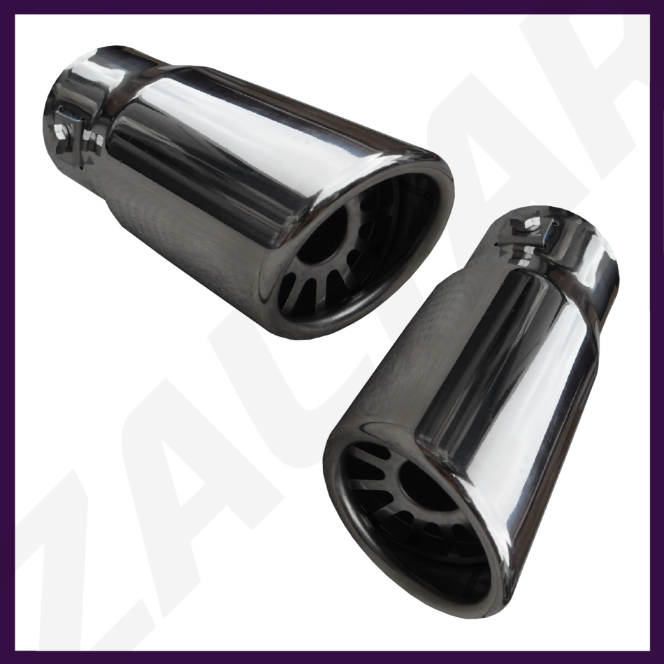 CHROME EXHAUST TAILPIPE TAIL PIPE TRIM END TIP MUFFLER