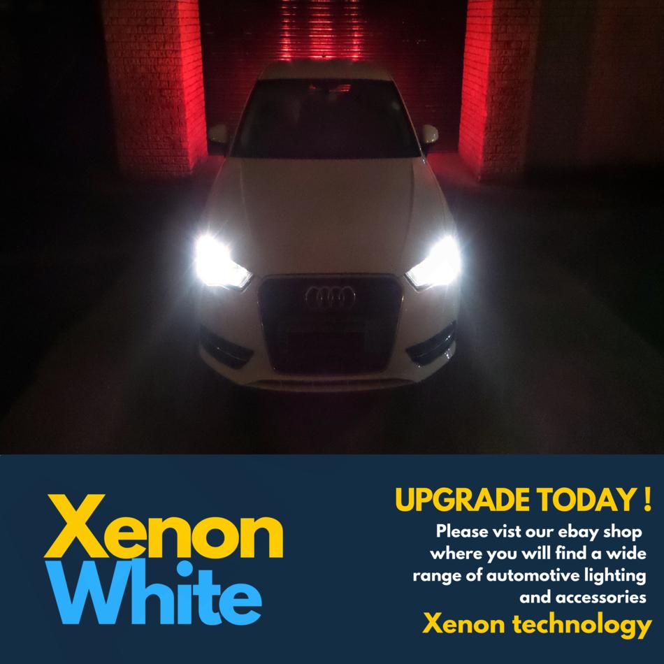 H4 100w Super White Xenon Car Headlight Bulbs 12v W5W 501 Led Sidelights X 472