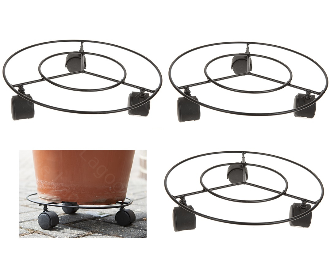 Plant Stands On Wheels 3 X 11 Quot Plant Pot Round Wheels Mover Trolley Caddy Garden