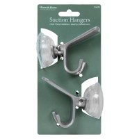 2pc Wall Suction Cups Hooks Set Kitchen Bathroom Coat ...