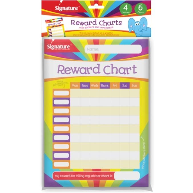 Reusable Boys Girls Star Reward Progress Chart Chore Board Behaviour