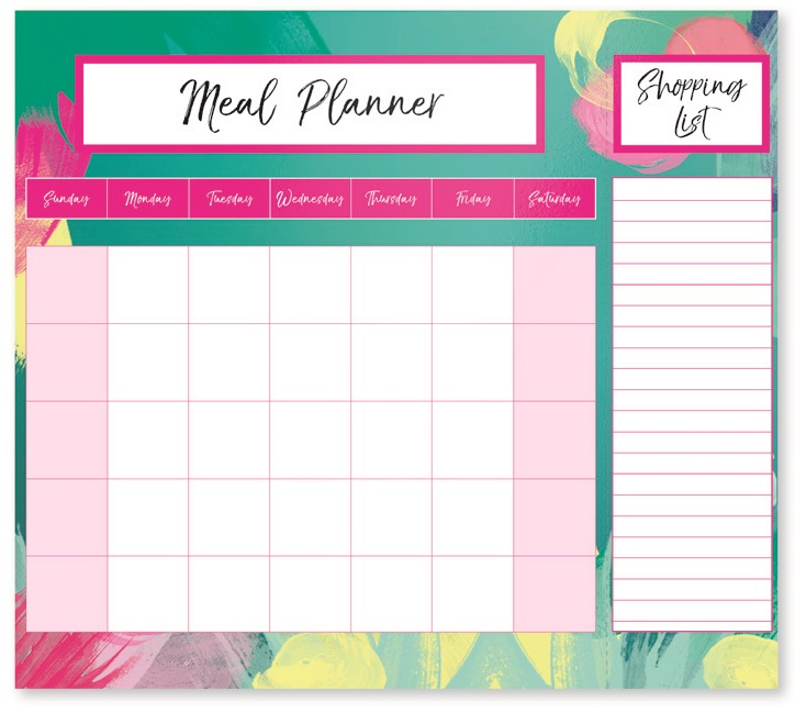 Weekly Magnetic Fridge Meal Diet Planner Shopping List Chart Board
