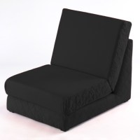 Black Fold Out Z Bed Single Chair 1 Seat Chair Guest Bed ...