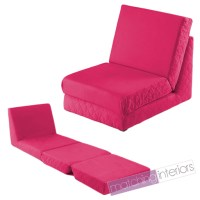 Pink Fold Out Z Bed Single Chair 1 Seat Chair Guest Bed ...