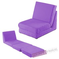 Purple Folding Z Bed Single Chair Bed 2 Seat Sofa Fold Out ...