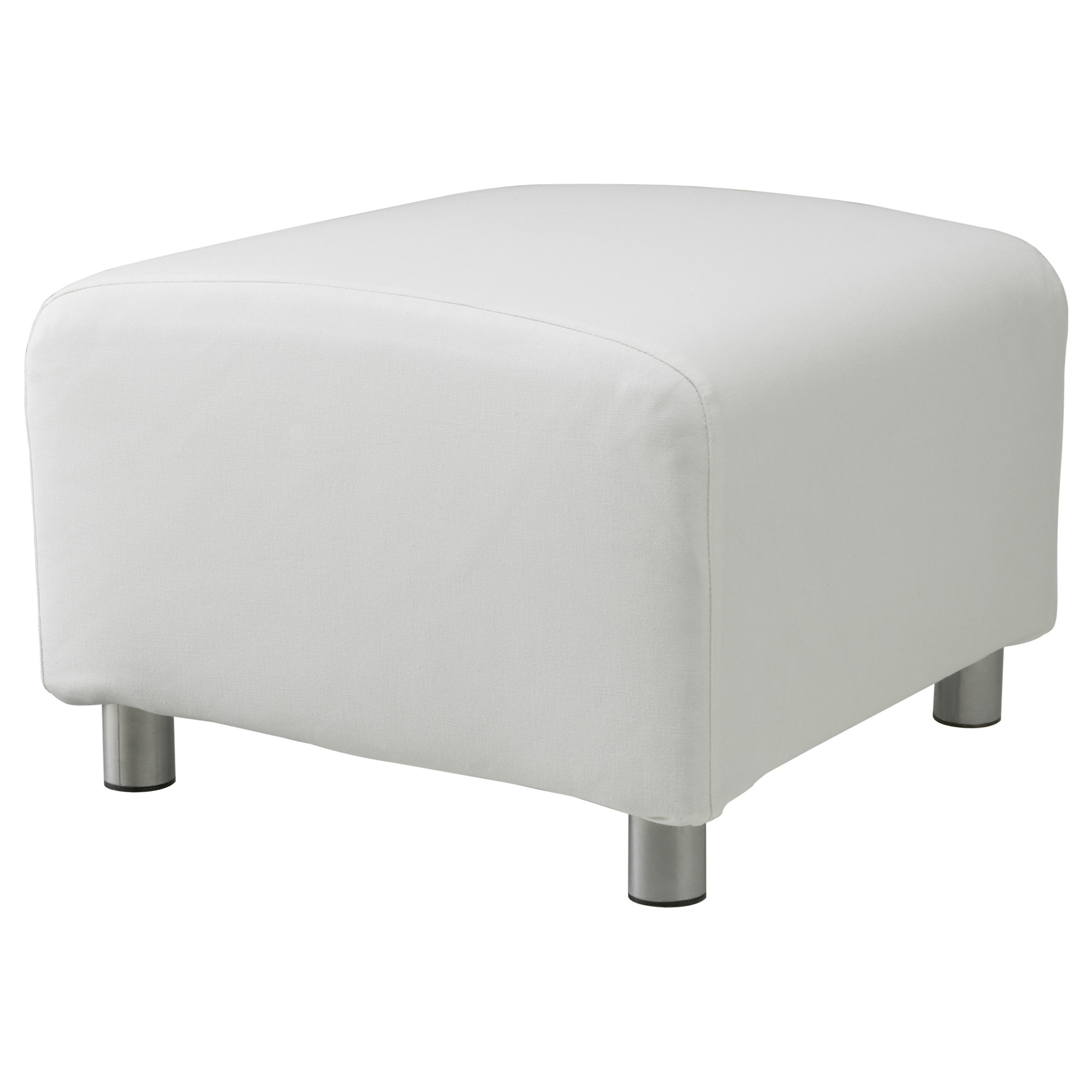 Pouffe Ikea Details About White Cotton Custom Slip Cover For Ikea Klippan Footstool Sofa Cover Foot Stool