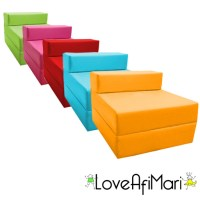 Childrens Fold Out Guest Z Bed Sofa Chair Kids Sleepover ...