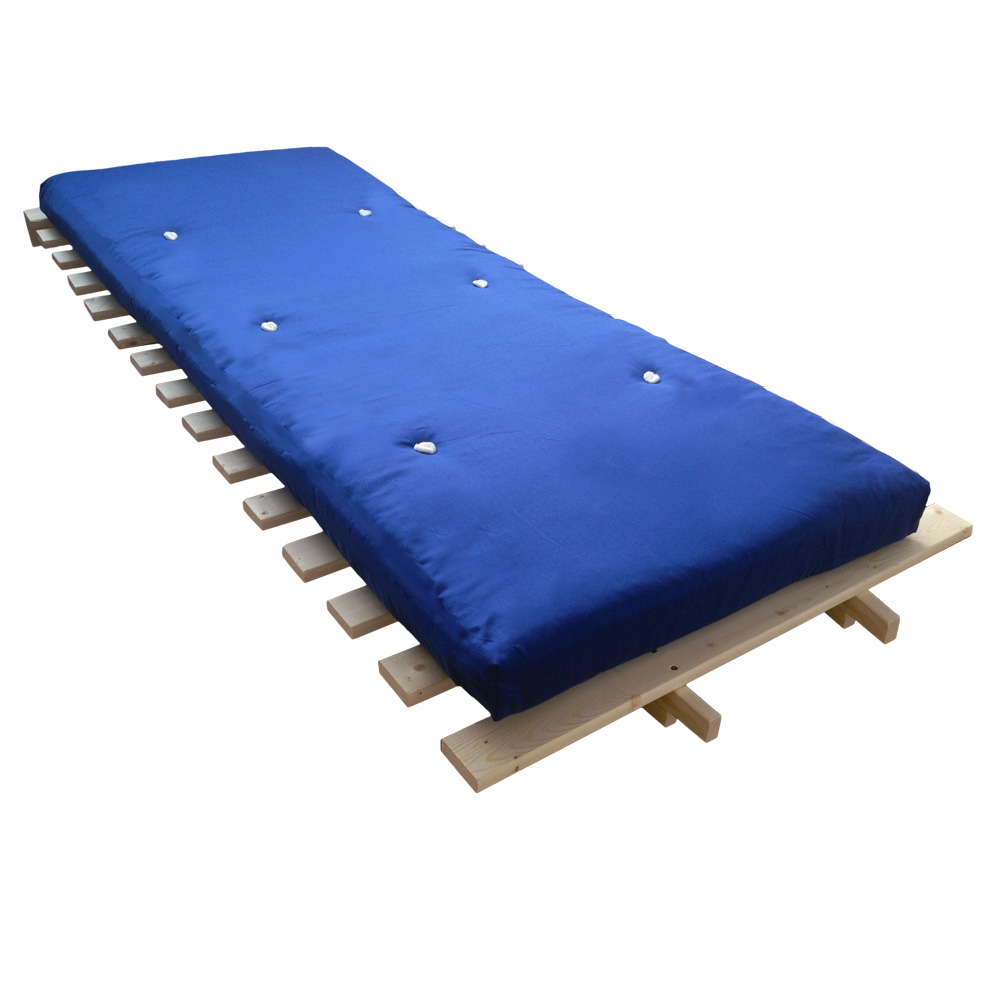 Single Fold Out Sofa Bed 1 Seater Futon Wooden Frame With