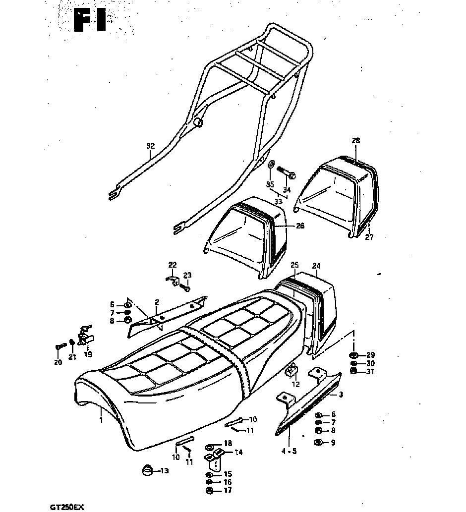 suzuki gt250 x7 wiring diagram