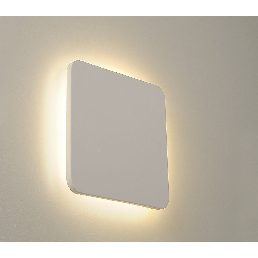 Slv Plastra Wall Lamp Intalite Plastra Square 9w Led Paintable Plaster Square