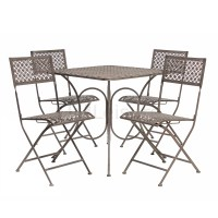 VINTAGE STEEL BISTRO FURNITURE SET GARDEN TABLE AND CHAIRS ...