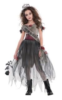 Kids Zombie Prom Queen Girls Halloween Party Fancy Dress ...