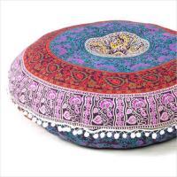 Blue Bohemian Floor Pillow   Mandala Floor Pillows   Eyes ...
